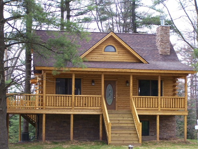 Katahdin Cedar Log Home Project MD05-8