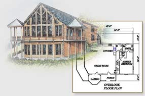 Log Home Floor Plan