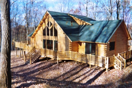 Katahdin Cedar Log Home located in Washington County Maryland