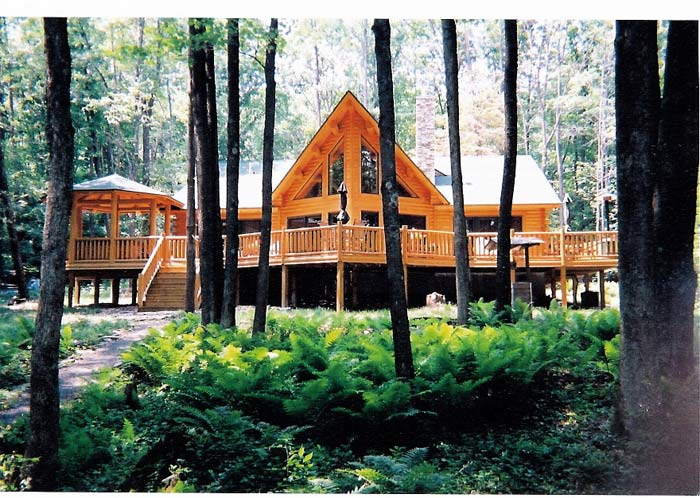 Katahdin Cedar Log Home Project #MD02-1